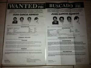 Image Is Loading ENG SPANISH NOTORIOUS DRUGLORD JUAN GARCIA ABREGO FBI