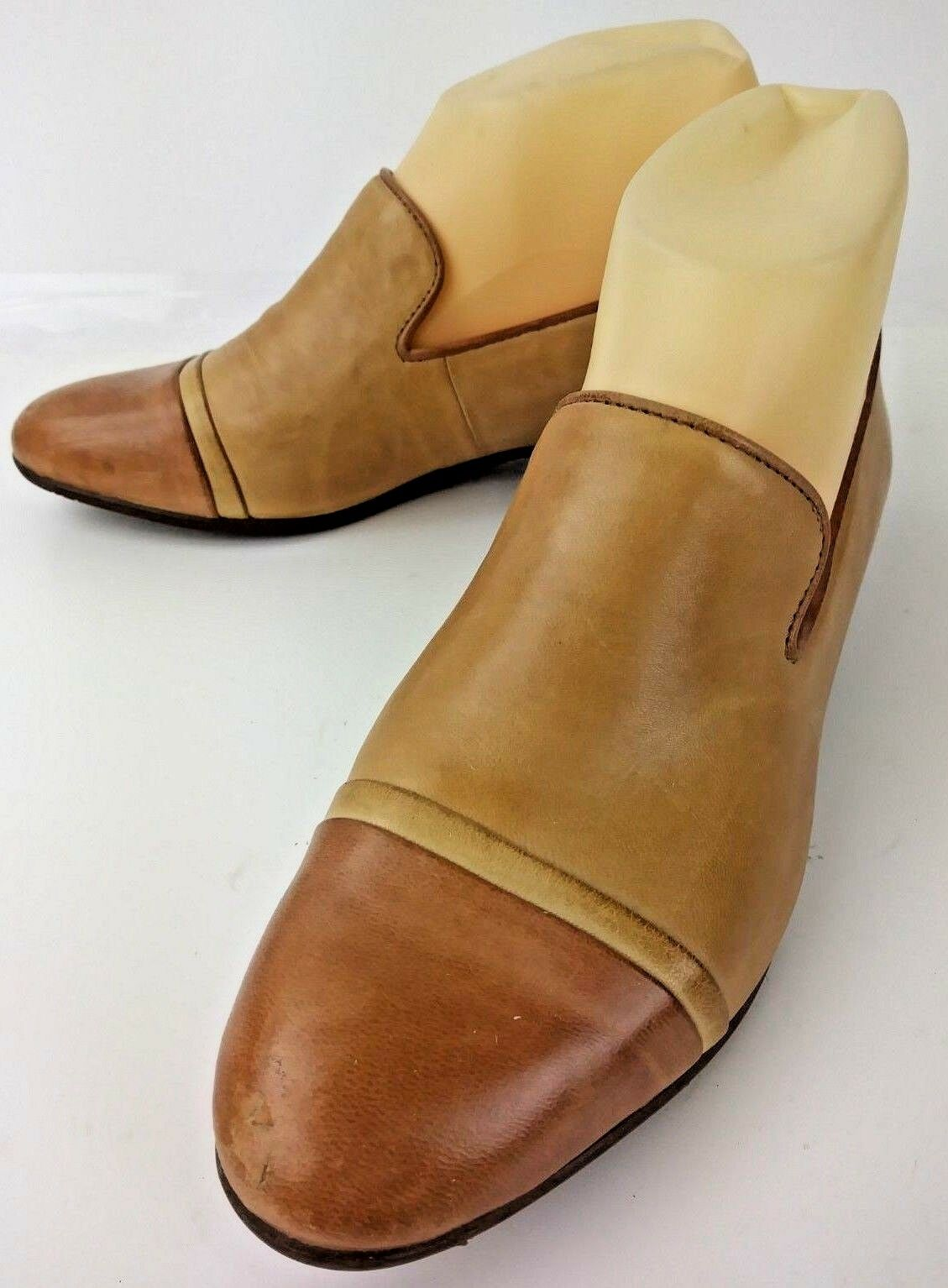 Chocolat Blu Donna Scarpe Loafers Loafers Loafers DEAN US 6 Two Pelle Tone marrone   6dd917