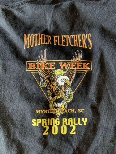 Vintage harley t shirt Mother Fletchers bike week