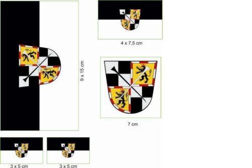 Aufkleberbogen Bayreuth Aufkleber Set Flagge Fahne