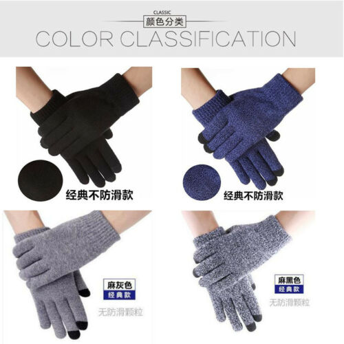 Winter gloves with thickening and thickening for touch screen men and women