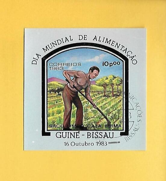 "Guinée-bissau 1983-tamponné ° Used-minr. Bloc 256 ""agriculture Bauer""-d - Minr. Block 256 ""landwirtschaft Bauer"""