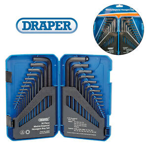 Draper-Metric-Imperial-Allen-Allan-Alan-Hex-Key-Set-Long-Pattern-Hexagon-KW30-B