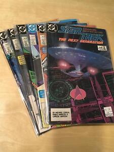 STAR-TREK-NEXT-GENERATION-1988-DC-Comics-full-set-1-6-1-2-3-4-5-6-NM-9-2