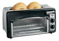 Hamilton Beach Toastation 2-slice Toaster And Mini Oven, Black, 22708, on sale