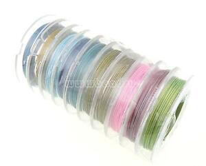 10-Rolls-10-Meters-Mixed-Colors-Tiger-Tail-Beading-Wire-Cord-Thread-FASHION