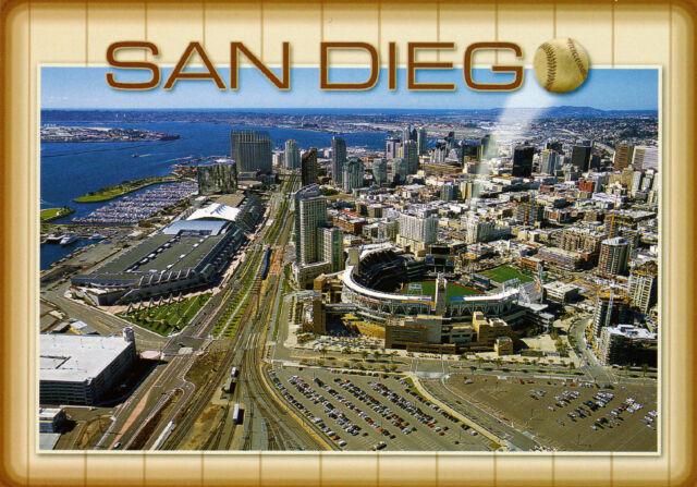 SAN DIEGO PADRES PETCO PARK BASEBALL STADIUM POSTCARD WITH CITY VIEW