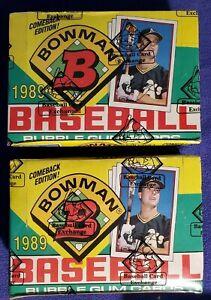2-1989-BOWMAN-BASEBALL-36-PACK-WAX-BOXES-BBCE-WRAPPED-KEN-GRIFFEY-JR-RC-B