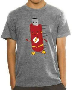 The Flash USB Drive T-Shirt DC Comics Speedster Men/'s XL XXL New w//Tags!
