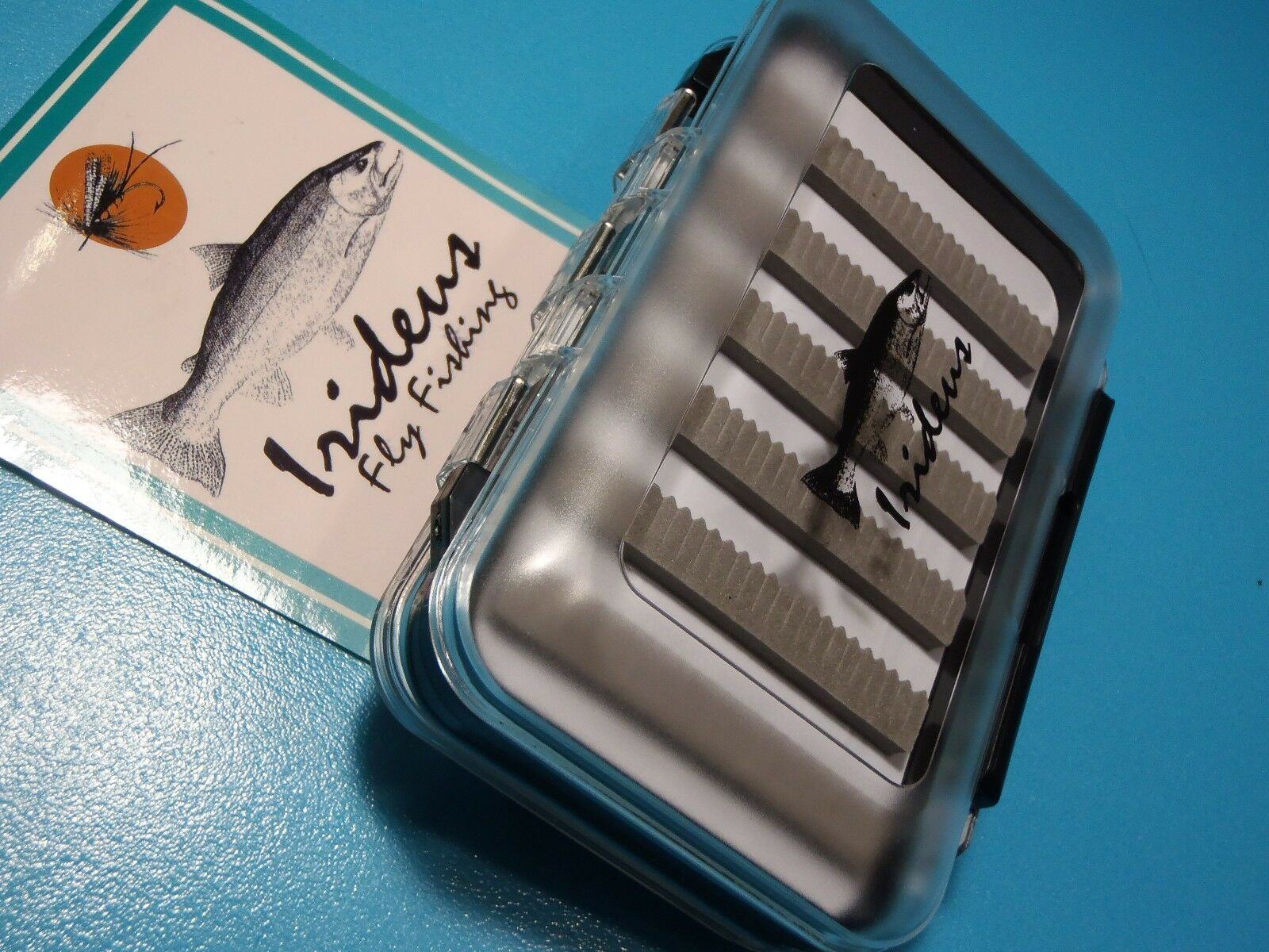 Irideus Kenai Fly Boxes 3 Clear Large Double Sided Trout Steelhead Fly Fishing
