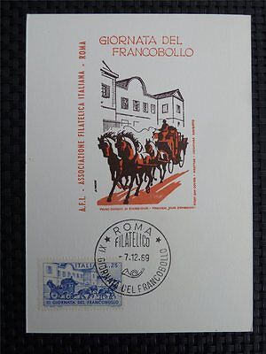 Schlussverkauf Italien Mk 1969 Italy Pferde Kutsche Horse Maximumkarte Maximum Card Mc Cm C1203