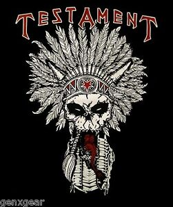 TESTAMENT-cd-lgo-NATIVE-BLOOD-Official-SHIRT-XXL-2X-New-dark-roots-of-earth