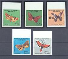 MALAGASY 1984, Butterflies, imperf. set of 5, MNH** (73)
