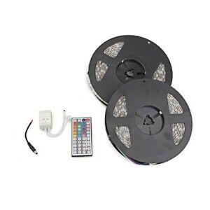 Luce-striscia-impermeabile-10M-2x5m-RGB-600-LED-5050-SMD-12V-DC-flessibile-O4L1
