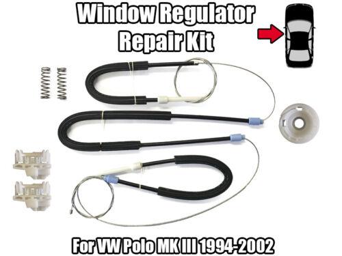 1x Fenêtre Régulateur Réparation Kit Pour VW Polo MK III 1994-2002 Avant Gauche Porte