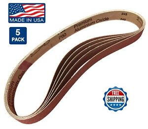 "150 grit AL Oxide Sandpaper Belts 1X 30/"" 10-pack for Metal File Floor Sander"