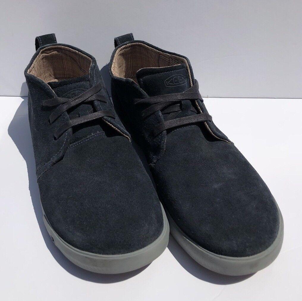 Keen   Herren Navy Blau Leder Mid Größe Hightop Sneaker Casual Schuhe Größe Mid 13 EUC be54e2