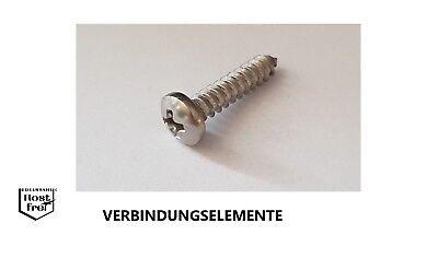50 St Blechschrauben Linsensenkkopf  DIN 7983 V2A A2 2,9x32