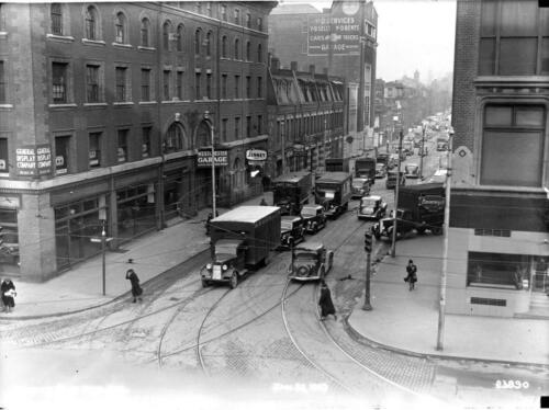 Newbury St /& Massachusetts Ave MA Boston Photo traffic 1938-9