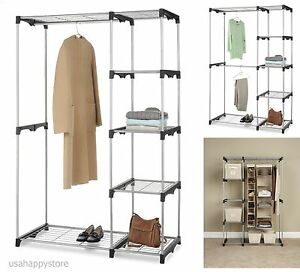 Image Is Loading Whitmor Closet Organizer Systems Wardrobe Storage Rack  Clothes