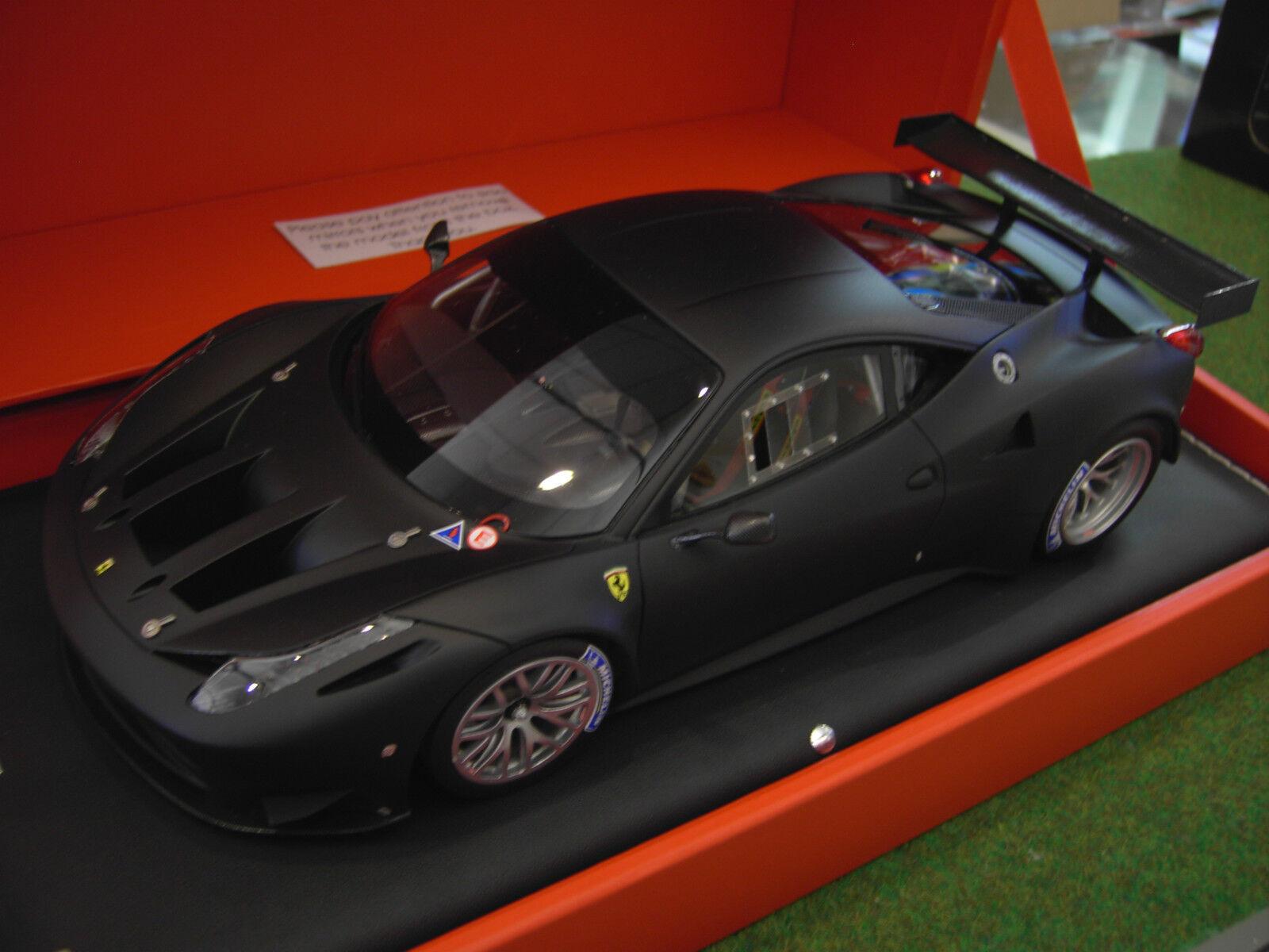 FERRARI 458 GT2 black mat echelle 1 1 1 18 d MR FE05C voiture miniature de collection 3a8f36
