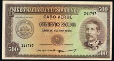 Cape Verde  500 Escudos1958  PIC50 VF++ Portuguese Africa