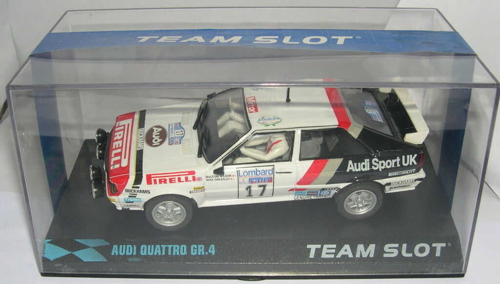 TEAM SLOT 12205 AUDI QUATTRO A1 GR. 4  RAC '82  M.WILSON-M.GREASLEY MB