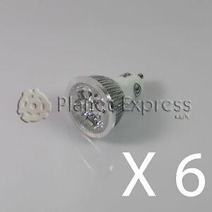 equiv.40W 6 x Bombilla 4W LED GU10 Blanco Calido 220V 350 lumen Bajo Consumo