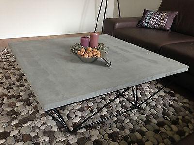 Couchtisch BETON Betontisch Lounge Designtisch 80x80cm od. 70x70cm