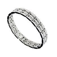 Accents Kingdom Men's Magnetic Titanium Therapy Golf Bracelet T4