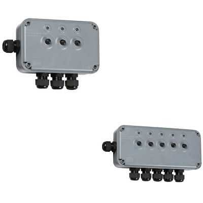Knightsbridge IP66 13A 3 Way Switch Box With 4 Cable Entries Outdoor Power