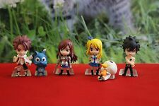 2 Sets of 6pc Cake Toppers Fairy Tail Figures Natsu Lucy Gray Erza Happy & Plue