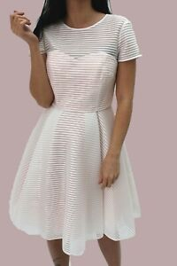 Ted-Baker-White-Sweetheart-Cadye-Mesh-Lace-Prom-Party-Dress-Cocktail-6-to-14-New