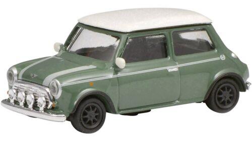 Verde Bianco-NUOVO Schuco 26392-1//87 Mini Cooper