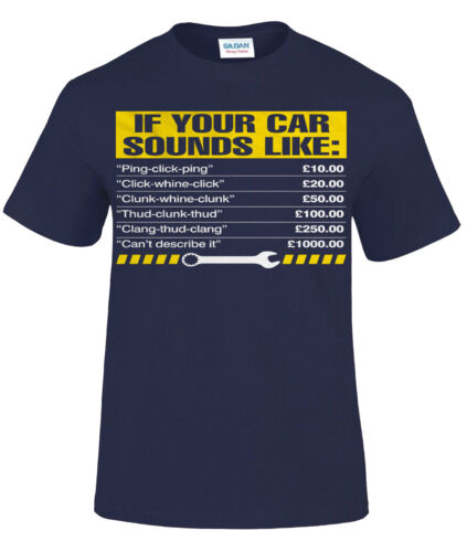 Gift for Dad Him Print IF YOUR CAR SOUNDS LIKE T-Shirt//Mens Funny Mechanic Top