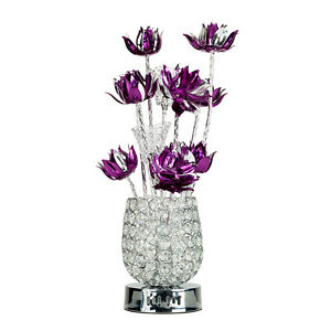 Large modern aluminium floor floral lamp flower design for Aluminium flower floor lamp in silver red