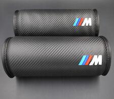 2pcs M Performance Carbon Fiber Head Rest Cushion Seat Neck Pillow Pad for BMW