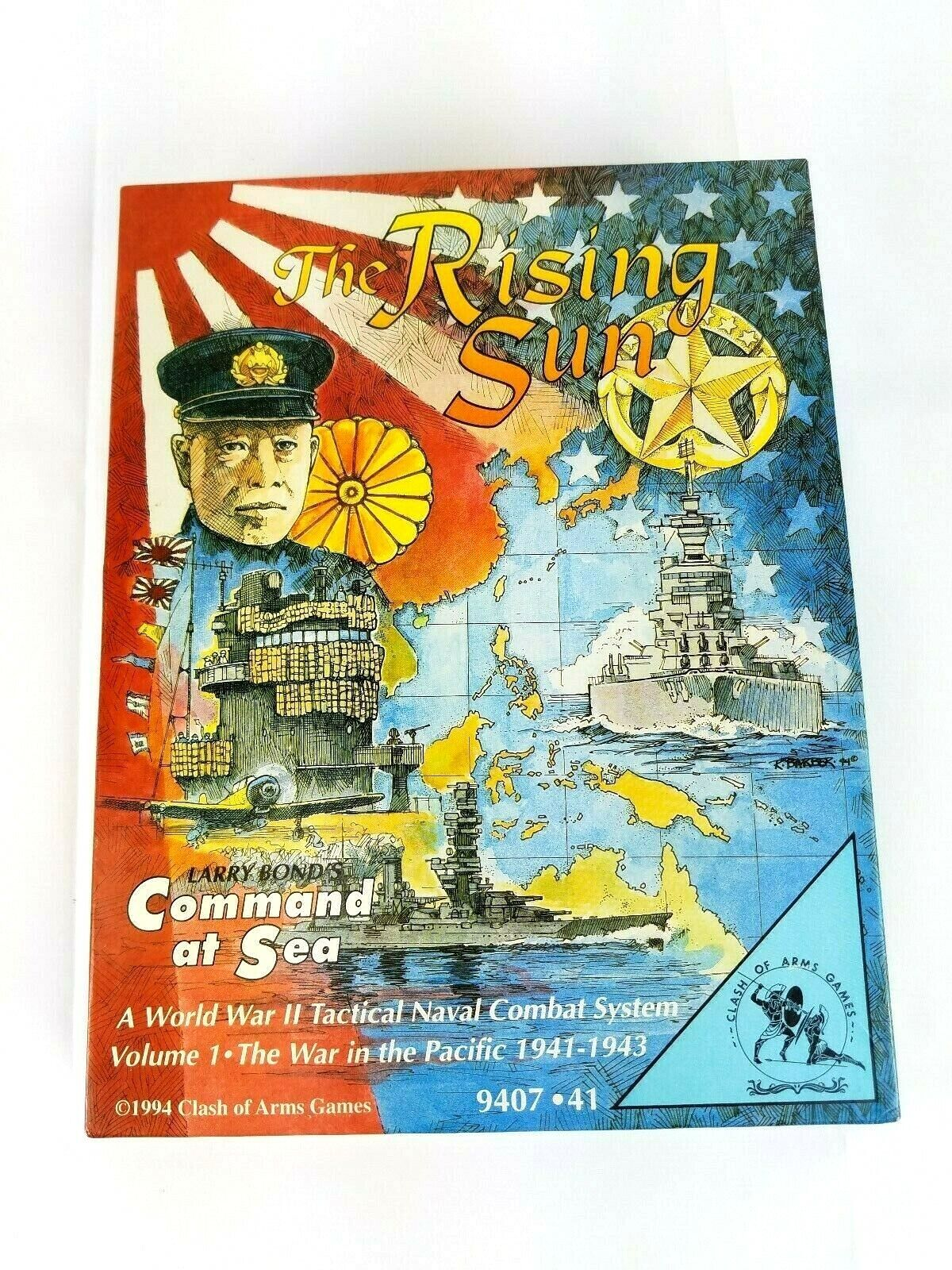 The Rising Sun Command At Sea Sea Sea World War II Board Game Clash Of Arms 1994 42f35d
