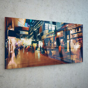 ANY-SIZE-Wall-Art-Glass-Print-Canvas-Picture-Large-Oil-Painting-City-46643457