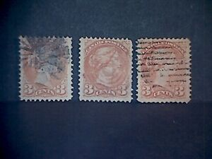 Canada 1870-91 Queen Victoria Stamps.Lot of Cancelled.