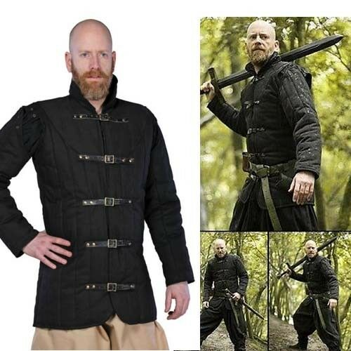 Warrior Black Padded Gambeson / Jacket. LARP Clothing Medieval Armour