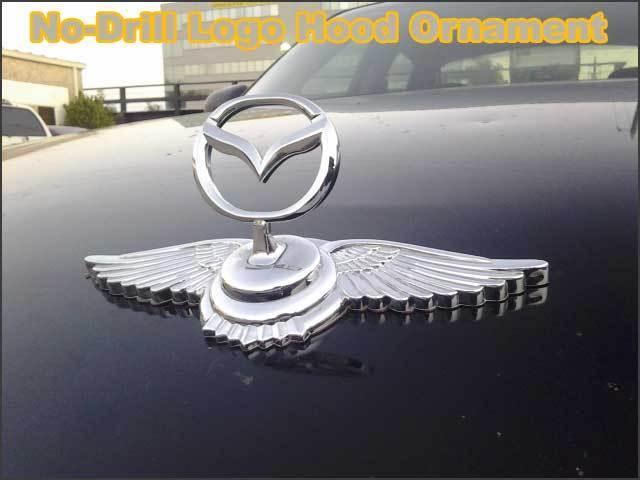 Custom Hood Ornaments >> Chrome Metal Car Front Hood Ornament Badge Emblem Logo For Mazda