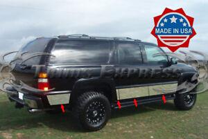 "2000-2006 Chevy Suburban w//Flare Chrome Rocker Panel Trim 6"" Stainless Steel"