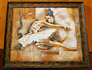 Large-Ballerina-Painting-50-x-60cm-Acrylic-Oil-on-Canvas-Wood-Frame-23-034-x-19-5-034