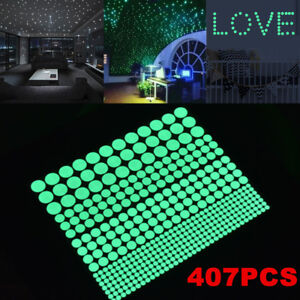 Image Is Loading 407Pcs Glow In The Dark Wall Stickers Luminous