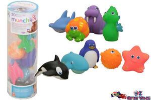 10 Munchkin Squirting Sea Buddies Bundle Bath Toys Kids Pool Toy