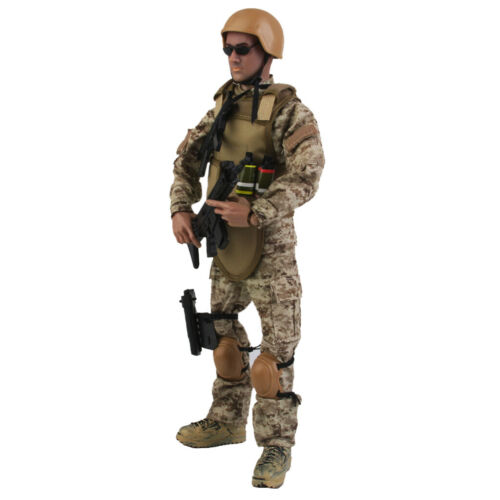 1 6 Army Soldier Actionfigur Puppe mit Metall Display Stand Hanger Rack Set