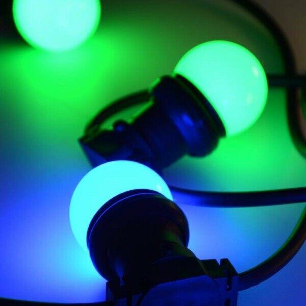 Bombilla Led luz RGB casquillo E27 1,5W Bombilla guirnalda Lote 15 piezas