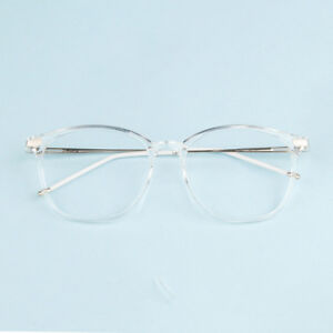 460466ab06e Image is loading Fashion-Transparent-Eyeglasses-Frame-Rx-able-Spectacles- Glasses-