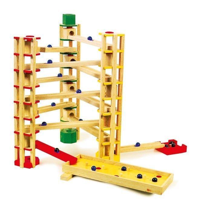 Pista/torre per biglie biglie biglie a gioco/giocattolo in legno x bambini 18cd3d